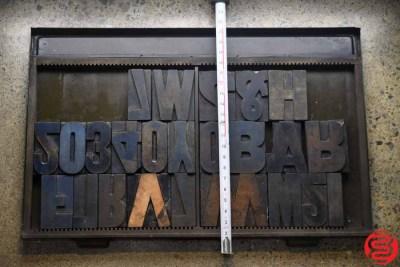 Assorted Letterpress Wood Type - 022120042650