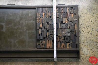 Assorted Letterpress Wood Type - 022120081450
