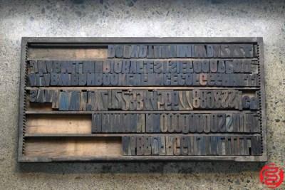 Assorted Letterpress Wood Type - 022120113345