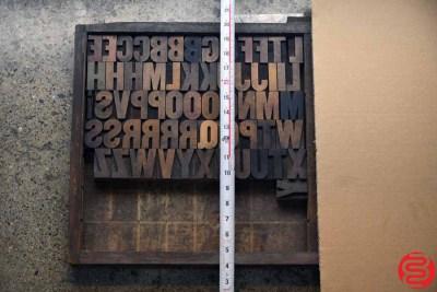 Assorted Letterpress Wood Type - 022120125905