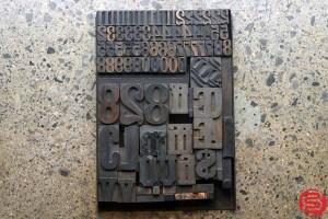 Assorted Letterpress Wood Type - 032520093105