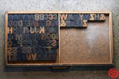 Assorted Letterpress Wood Type - Full Capitals - 1.5 - 032520111755