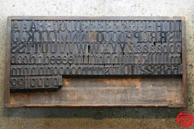 Assorted Letterpress Wood Type - Full Capitals - 2 - 032520093040