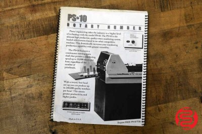Pierce PS-10 Rotary Numbering System - 060120024540