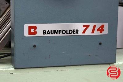 Baumfolder Ultrafold 714 Air Feed Paper Folder - 080320105720