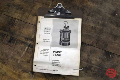 Sears 3 Gallon Paint Tank - 012122010920