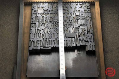 Assorted Antique Letterpress Letter Blocks - 020521105050