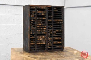 Letterpress Furniture Cabinet w/ Assorted Wood Furniture - 021121080940