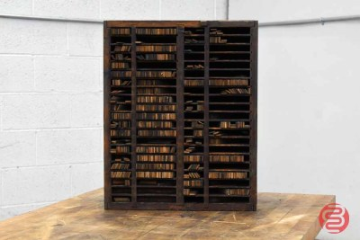 Letterpress Furniture Cabinet w/ Assorted Wood Furniture - 021121080940