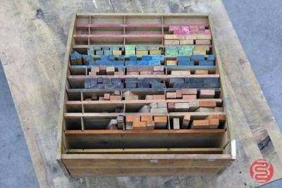Letterpress Furniture Cabinet w/ Assorted Furniture - 022621084710