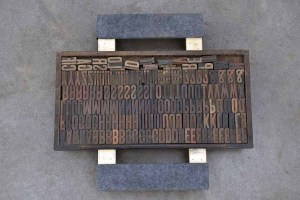 Assorted Antique Letterpress Letter Blocks - 040921010821