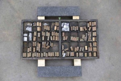 Assorted Antique Letterpress Letter Blocks - 040921015920
