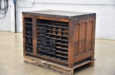 Hamilton Letterpress Cabinet w/ Assorted Furniture - 040921113520