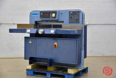 Mandelli Star 100 Hydraulic Programmable 30in Paper Cutter - 041321091550