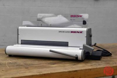 Renz SPB 360 Comfort Electric Coil Binding Machine w/ Modular Electric Motor Drive - 041221023540