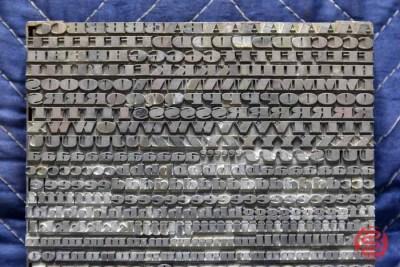 Assorted Letterpress Font Metal Type - 050621091055