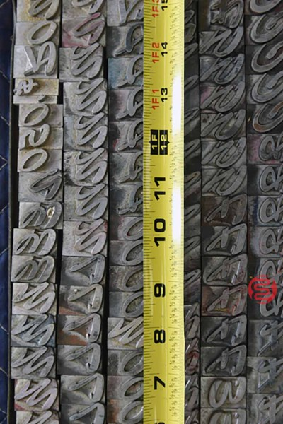 Assorted Letterpress Font Metal Type - 050621093502