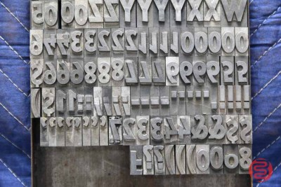 Assorted Letterpress Font Metal Type - 050621094614