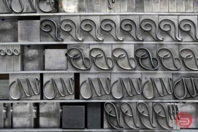 Assorted Letterpress Font Metal Type - 050621111327
