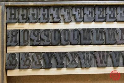 Letterpress Font Wood Type - 050421013019