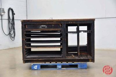 Letterpress Typekit Cabinet w/ Stone Top - 050721102359