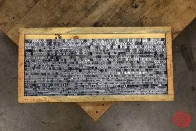 Assorted Letterpress Font Metal Type - 062821094112