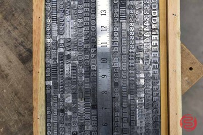 Assorted Letterpress Font Metal Type - 062821100812