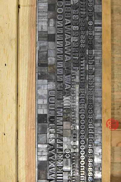 Assorted Letterpress Font Metal Type - 062821103712