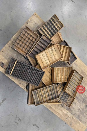 Assorted Letterpress Typekit Cabinets and Drawers - 062821091450