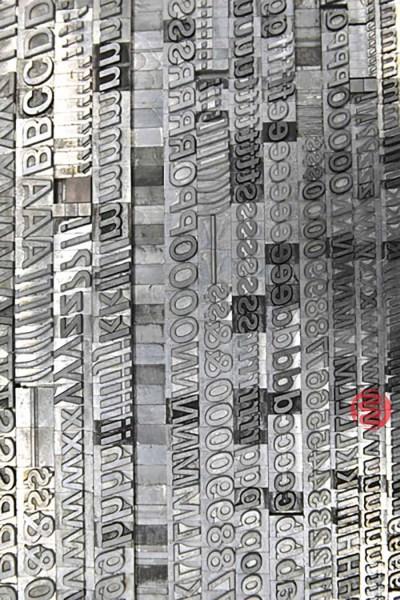 Assorted Letterpress Font Metal Type - 063021033515