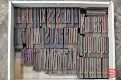 Assorted Letterpress Font Wood Type - 063021043546
