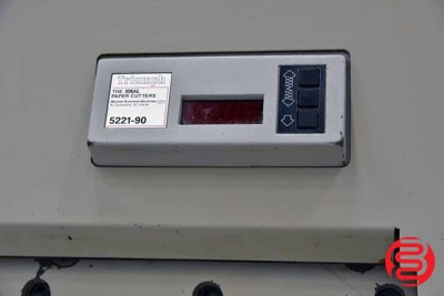 1994 MBM Triumph Ideal 5221-90 EP Programmable Paper Cutter - 090721014910