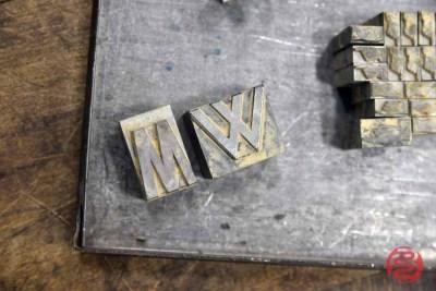 Assorted Letterpress Font Wood Type - 091421083255