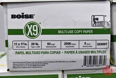 Boise X9 Bright 20lb 11 x 17 Paper ( 12,500 Sheets) - 083121112345