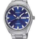 Seiko Recraft Men's Watch, Analog Display Automatic Self Wind. Beautiful silver and blue design. Water Resistant To 165 Feet. $250.00