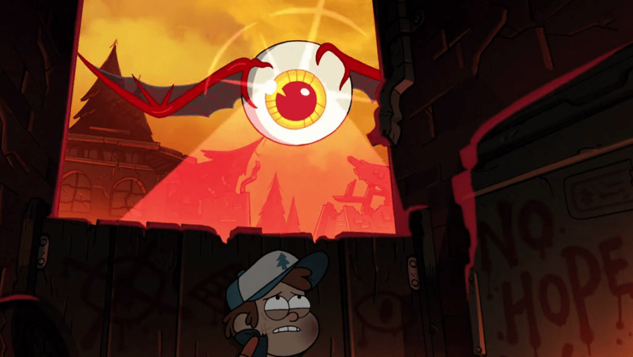 「eye bats turning people into stone gravity falls Bill's friend」の画像検索結果