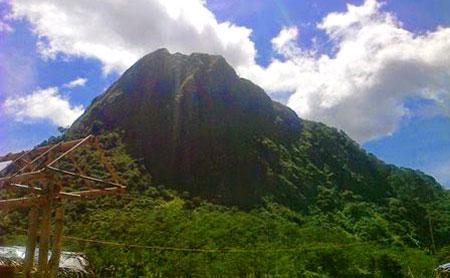 Batu Mountain In Sukamakmur Sub District Bogor City