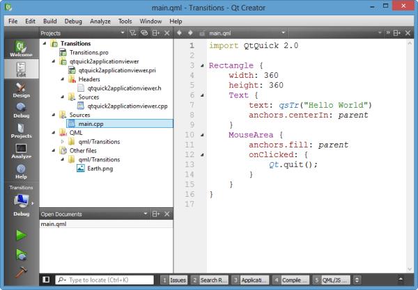 Qt5 Tutorial Creating QtQuick2 QML Application Animation A ...