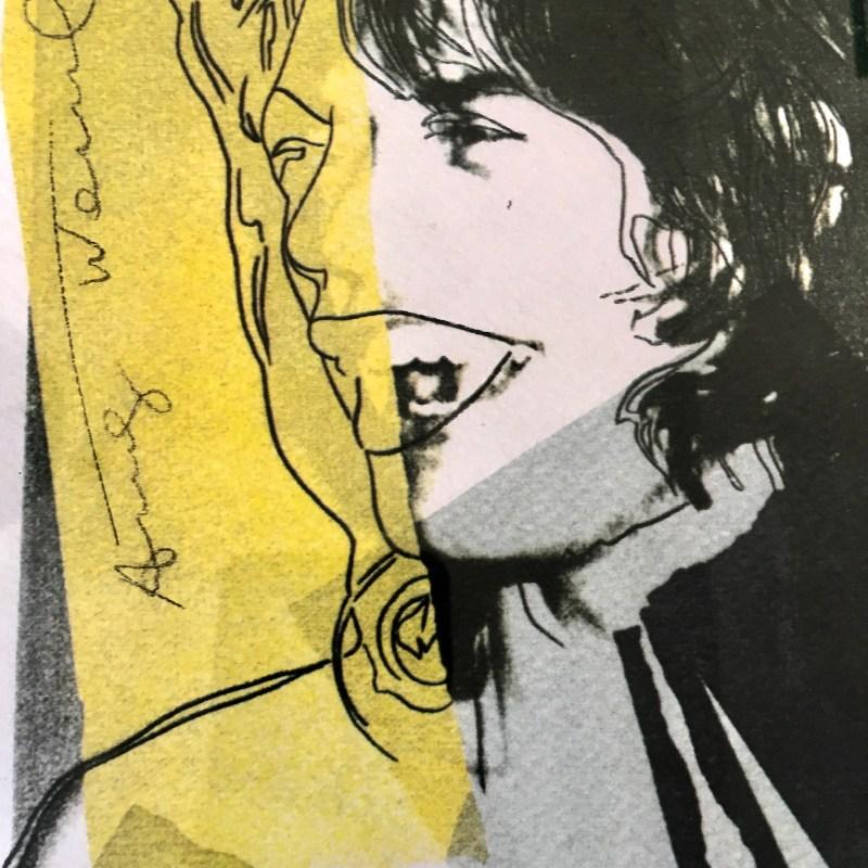Andy Warhol Mick Jagger dettaglio