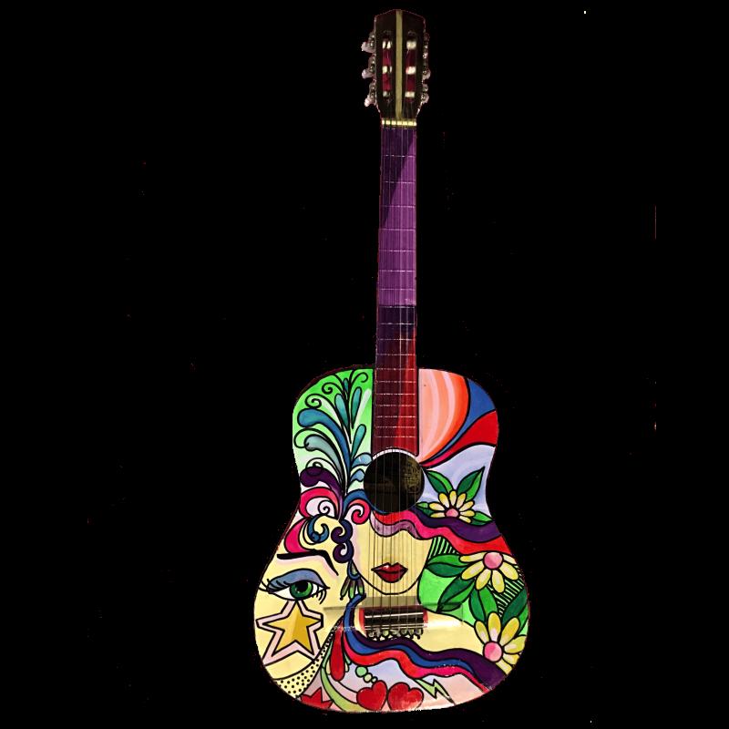 Chitarra pop-art