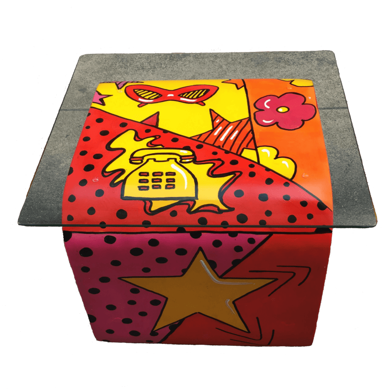 Tavolino cubo Pop Art
