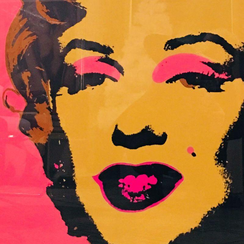 Andy Warhol Marilyn Monroe Blonde on Pink
