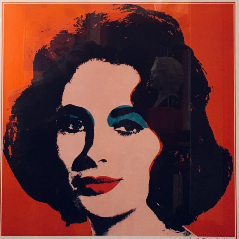 Andy Warhol Locandina Liz particolare