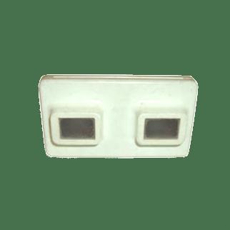 Visore stereoscopico bianco