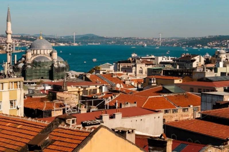 Uitzicht over de Bosporus in Istanbul