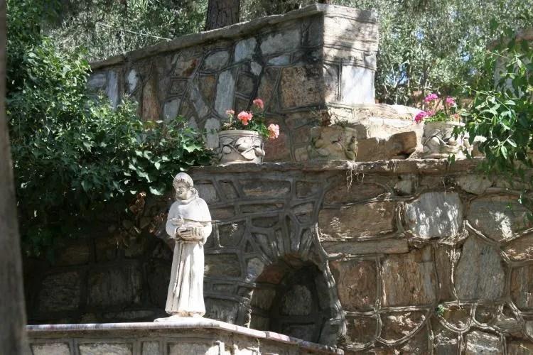 Het huis van de heilige maagd Maria een bedevaartsoord in Efeze Turkije