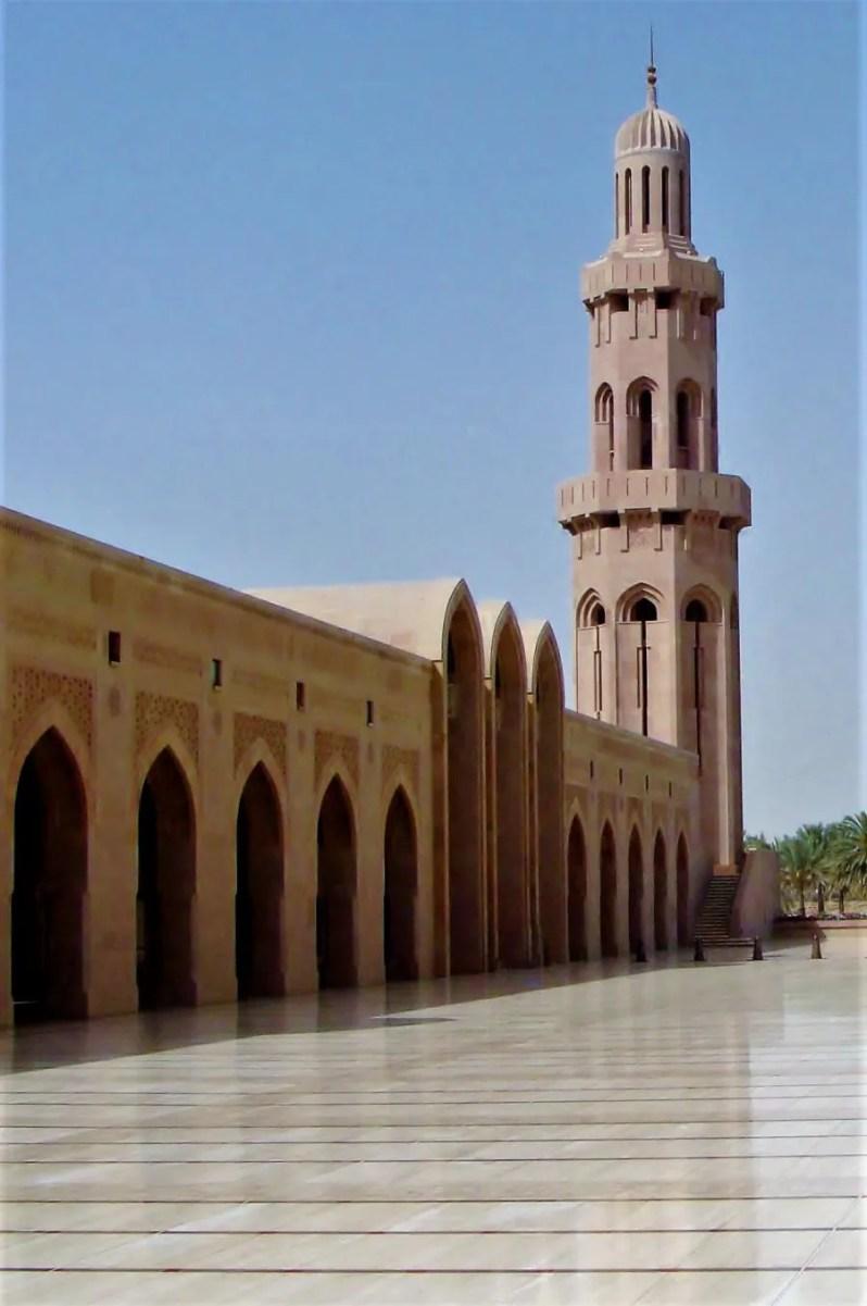 De grote Sultan Qaboos Moskee in Muscat