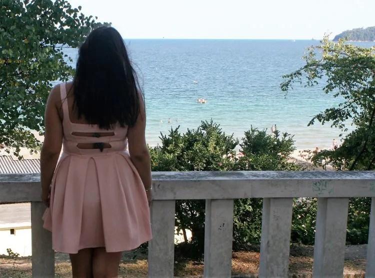 Uitzicht in het Sea Garden Primorski Park in Varna