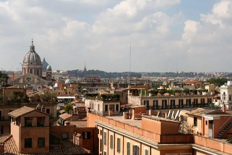 Uitzicht vanaf de Spaanse Trappen