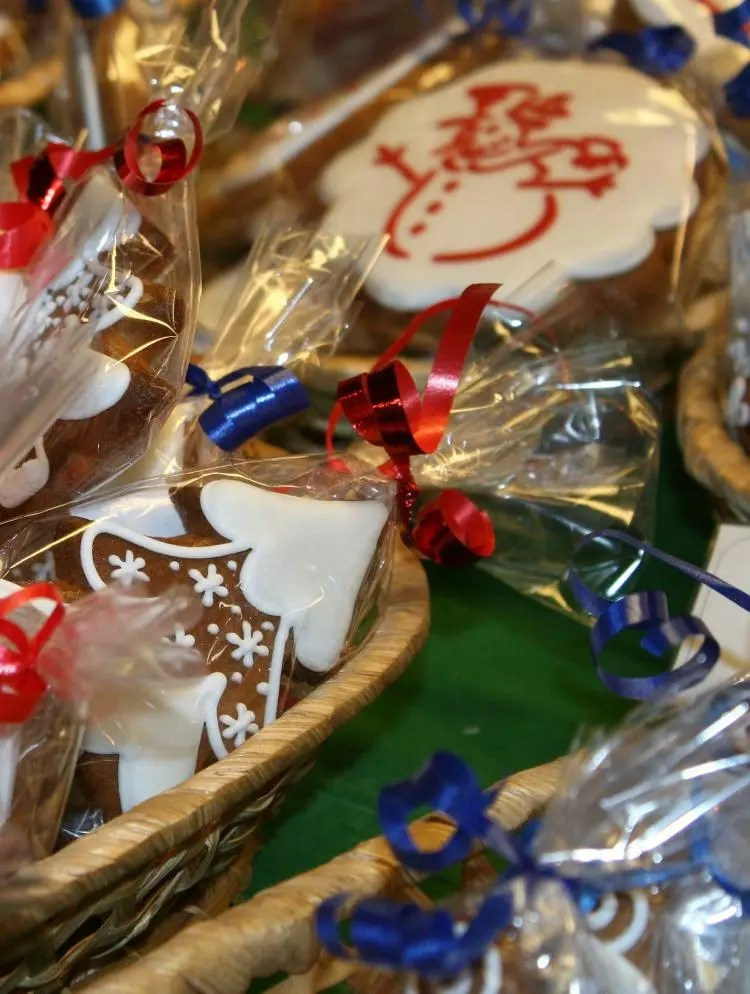 Kerstkoekjes op de kerstmarkt in Praag